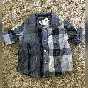 12M Plaid Button Down Shirt
